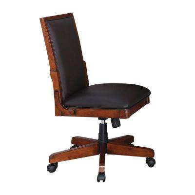 Favorite Classic – Swivel – Leather – Office Chairs – Home Office Furniture With Swivel Tobacco Leather Chairs (View 13 of 20)