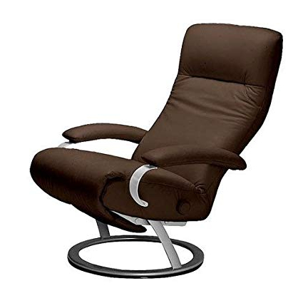 Favorite Espresso Leather Swivel Chairs Pertaining To Amazon: Kiri Recliner Espresso Leather Swivel Recliner Lafer (View 10 of 20)