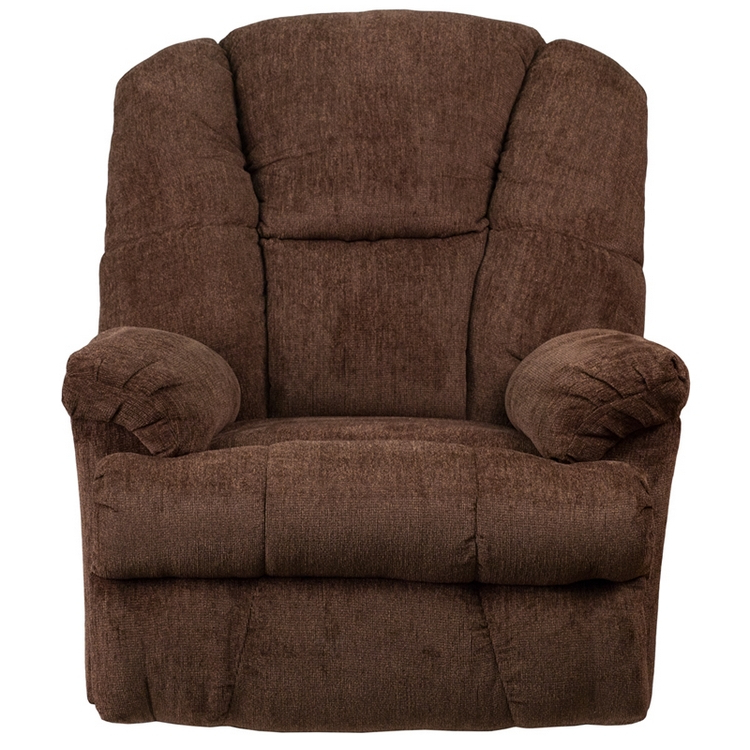 Favorite Flash Furniture Contemporary Hillel Chocolate Chenille Rocker Recliner In Hercules Chocolate Swivel Glider Recliners (View 20 of 20)