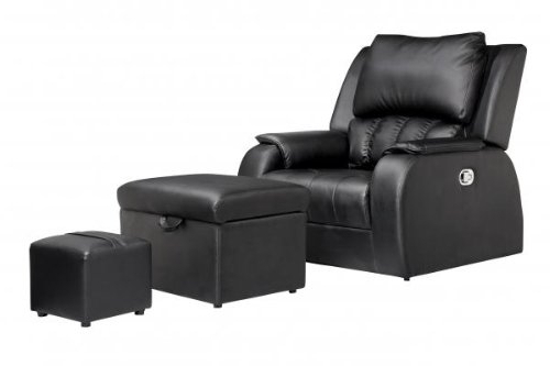 Foot Massage Sofa Chairs In Latest Amazon: Pu Leather Premium Recline Foot Massage Chair Sofa (View 6 of 20)