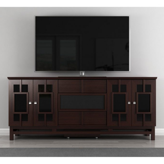 Furniture: 70 Inch Tv Stand For Family And Living Room With Well Known Annabelle Black 70 Inch Tv Stands (View 8 of 20)