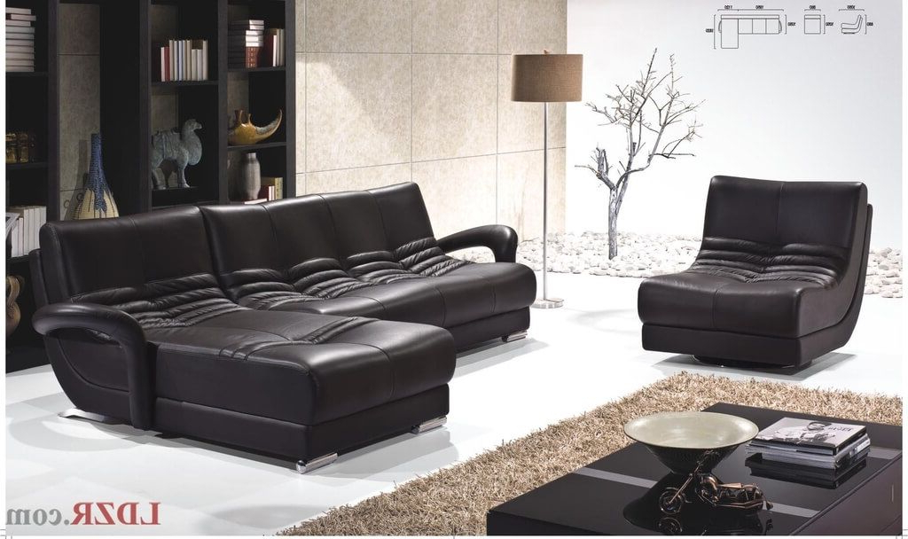 Furniture: Espresso Leather Sofa And Swivel Chair With Black Pertaining To Most Current Espresso Leather Swivel Chairs (View 11 of 20)