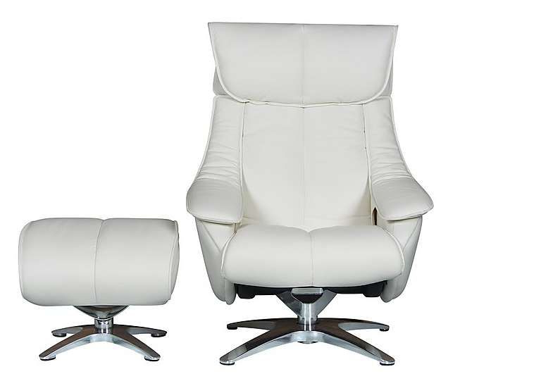Furniture Regarding Most Up To Date Amala White Leather Reclining Swivel Chairs (View 10 of 20)