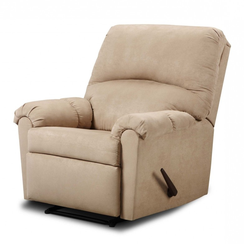 Furniture: Surprising Simmons Recliners For Contemporary Living Room Throughout Well Known Rogan Leather Cafe Latte Swivel Glider Recliners (View 9 of 20)