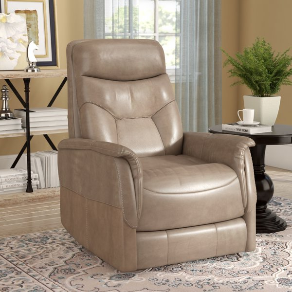 Gannon Linen Power Swivel Recliners Throughout Favorite Three Posts Haliburton Power Glider Swivel Recliner & Reviews (View 6 of 20)