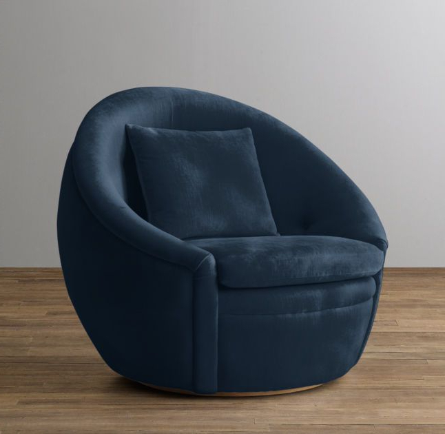 Gibson Swivel Cuddler Chairs In Trendy Rh Baby & Child's Oberon Velvet Swivel Chair:reminiscent Of A Nest (View 6 of 20)