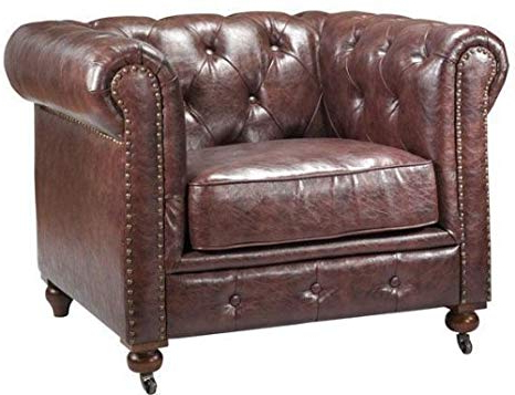 "Gordon Arm Sofa Chairs Regarding Widely Used Amazon: Gordon Tufted Chair, 32""hx42.5""wx38.25""d, Brown: Kitchen (Gallery 9 of 20)"