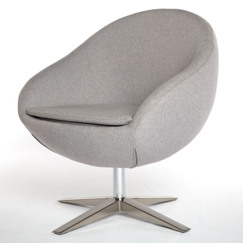 Grey Swivel Chairs Within Famous Modern Grey Occassional Chair (View 8 of 20)