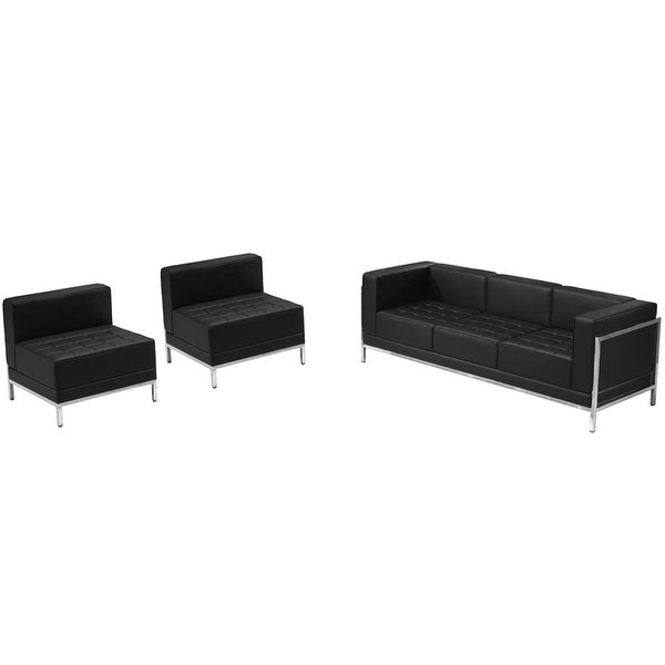 "Gwen Sofa Chairs With 2017 Shop Chancellor ""gwen"" Black Leather Sofa & Chair Set 13, 3Pcs (Gallery 20 of 20)"