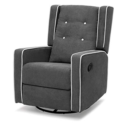 Harbor Grey Swivel Accent Chairs With Most Recently Released Amazon: Best Choice Products Midcentury Wingback Design Tufted (Gallery 3 of 20)