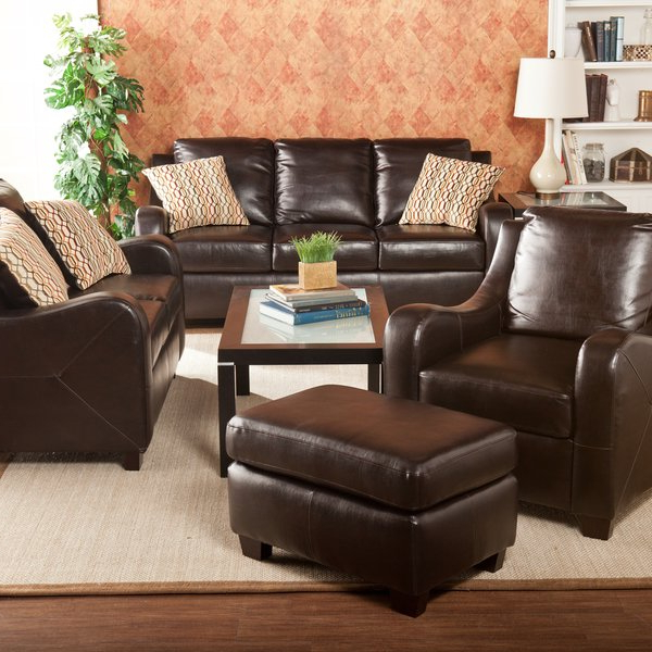 Harper Down Oversized Sofa Chairs With Regard To Current Shop Harper Blvd Claymore Chocolate 4 Piece Sofa Set – Free Shipping (Gallery 19 of 20)