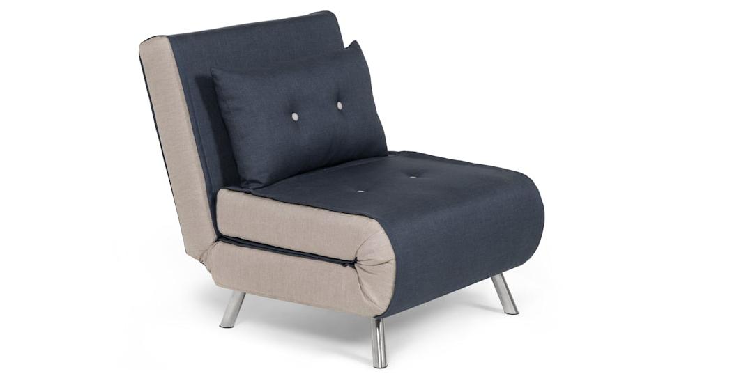 Haru Single Sofa Bed, Quartz Blue (Gallery 5 of 20)