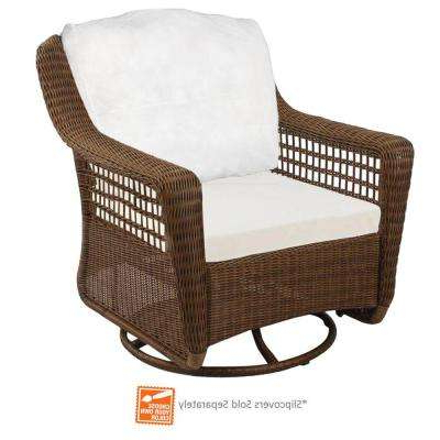 Haven Sofa Chairs Throughout Most Popular Spring Haven Brown – Patio Furniture – Outdoors – The Home Depot (View 11 of 20)