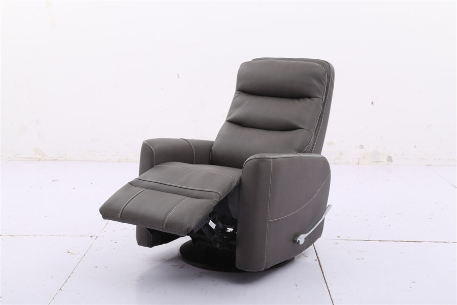 Hercules Grey Swivel Glider Recliners Throughout 2017 Hercules Glider Swivel Recliner With Articulating Headrest In (View 10 of 20)