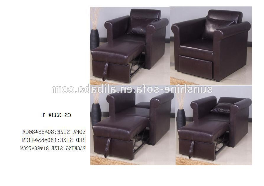 Hot Sell Single Leather Sofa Bed Chair Sofa Bed Furniture – Buy With Regard To Most Up To Date Sofa Bed Chairs (View 8 of 20)