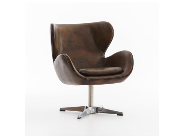 Industrial Home In Most Up To Date Espresso Leather Swivel Chairs (View 13 of 20)