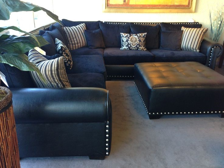 Featured Photo of Gina Blue Leather Sofa Chairs