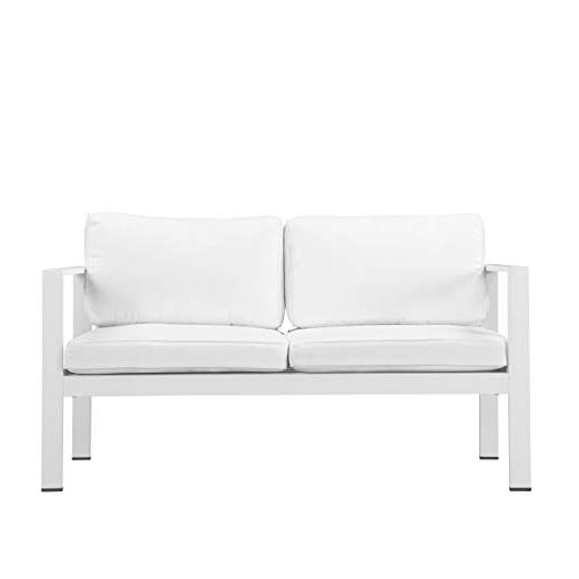 Karen Sofa Chairs Throughout Most Popular Amazon: Pangea Home Karen Sofa Chair White: Kitchen & Dining (Gallery 13 of 20)