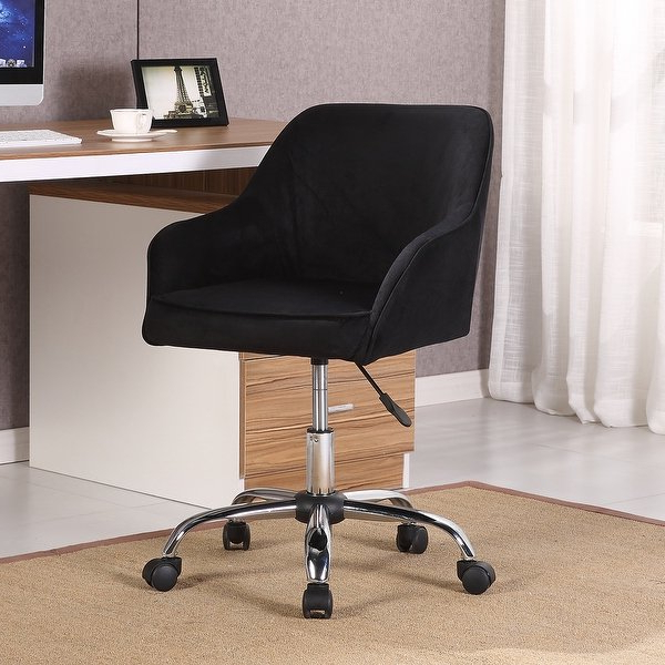 Katrina Blue Swivel Glider Chairs In Recent Shop Belleze Modern Office Chair Task Desk Adjustable Swivel Height (View 18 of 20)