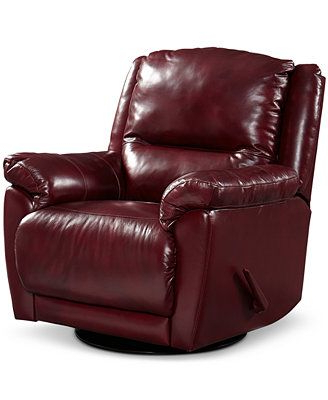 Katrina Blue Swivel Glider Chairs Pertaining To Most Popular Hughstin Leather Swivel Glider Recliner (View 3 of 20)