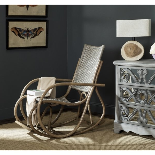 Katrina Grey Swivel Glider Chairs Inside Well Known Shop Safavieh Bali Antique Grey Rocking Chair – Free Shipping Today (View 10 of 20)