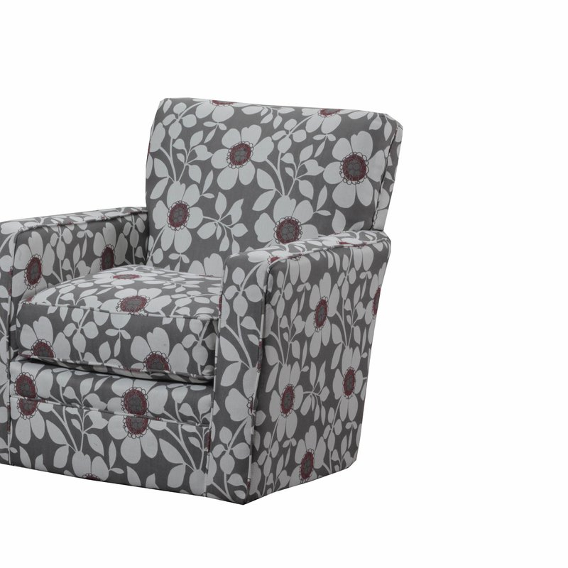 Katrina Grey Swivel Glider Chairs Pertaining To Most Current Latitude Run Simmons Upholstery Katrina Swivel Glider & Reviews (Gallery 2 of 20)