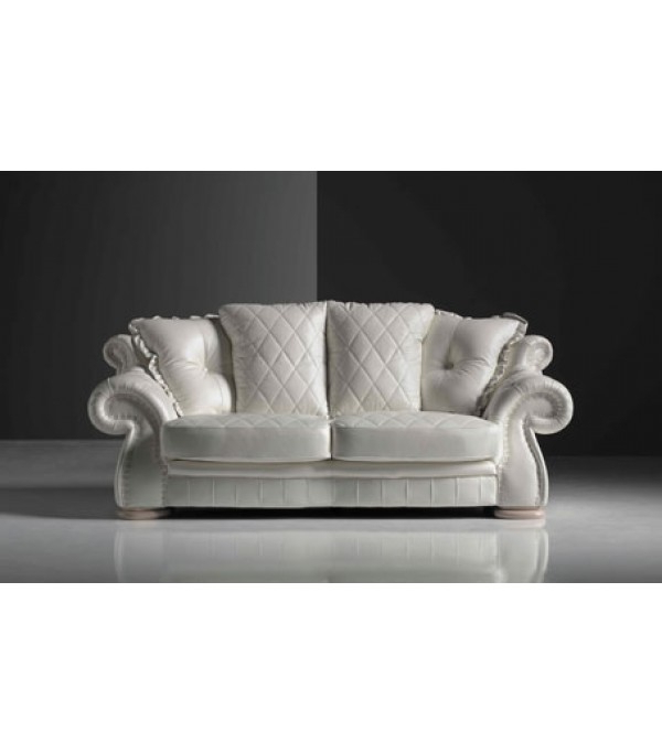 Kiara Sofa Chairs Regarding Well Liked High Quality Italian Leather Sofa Swarovski Crystals Kiara (View 5 of 20)