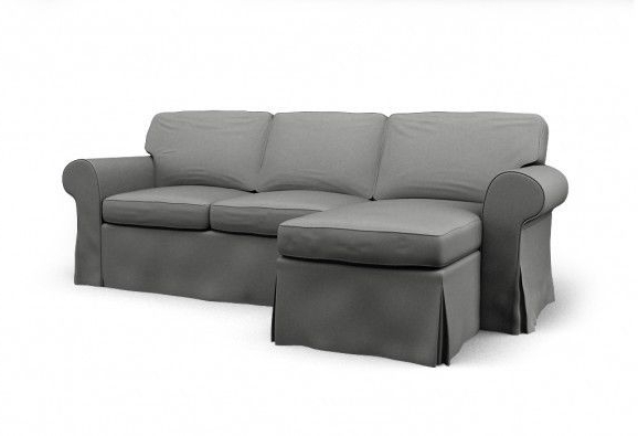 L Shaped Sofa & Chaise, Dark Grey, Great Condition! (Gallery 2 of 20)