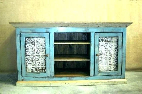Larger Photo Email A Friend Blue Tv Console Rustic – Qblabs With Regard To Popular Annabelle Blue 70 Inch Tv Stands (View 9 of 20)