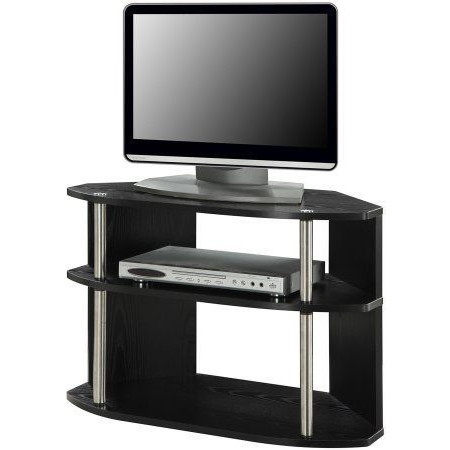 Latest 32 Inch Tv Stands Throughout Designs2Go Swivel Black Tv Stand For Tvs Up To 32 Inch (Gallery 17 of 20)