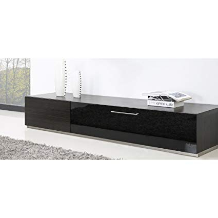 Latest Amazon: B Modern Producer Grey Ebony/black/steel Modern Tv Stand With Regard To B Modern Tv Stands (View 10 of 20)