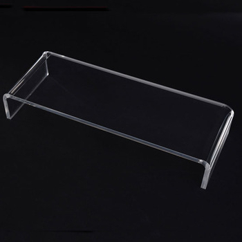 Latest Simple Oblong Clear Acrylic Tv Stand Perspex Monitor Shelf – Buy Inside Acrylic Tv Stands (View 9 of 20)