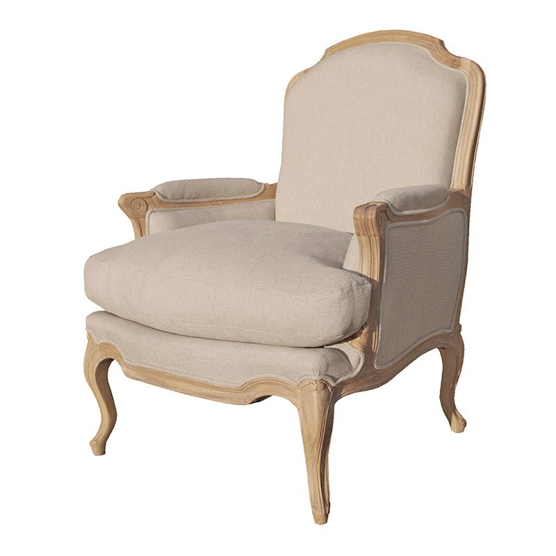 Latest Villeneuve Oak French Sofa Chair (View 8 of 20)