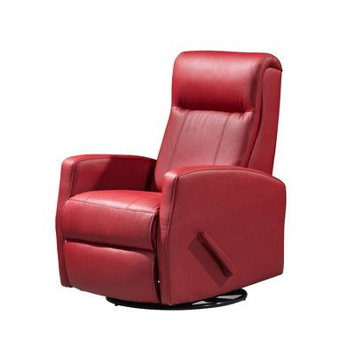 Latitude Run Jamie Swivel Glider Recliner Upholstery: Red (Gallery 9 of 20)