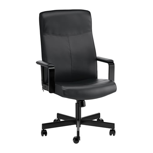 Leather Black Swivel Chairs Pertaining To 2018 Millberget Swivel Chair – Bomstad Black – Ikea (View 10 of 20)