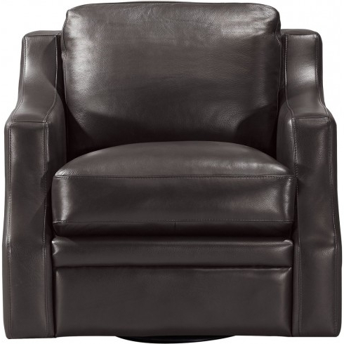 Leather Italia Grandview Swivel Chair In Espresso (View 15 of 20)