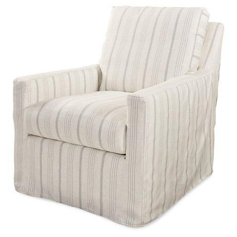 Lindsay Swivel Chair, Gray Stripe $1, (View 6 of 20)