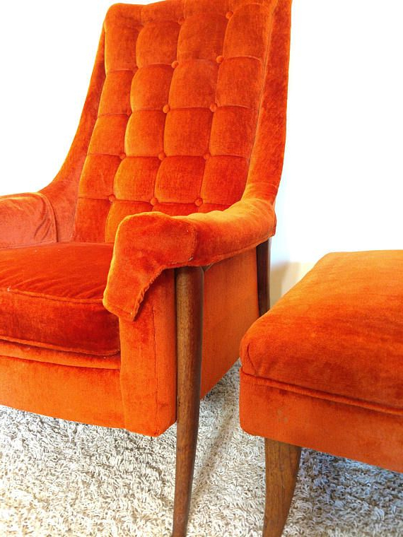 Liv Arm Sofa Chairs Intended For Latest Mid Century Kroehler Avant Arm Chair And Ottoman (View 9 of 20)