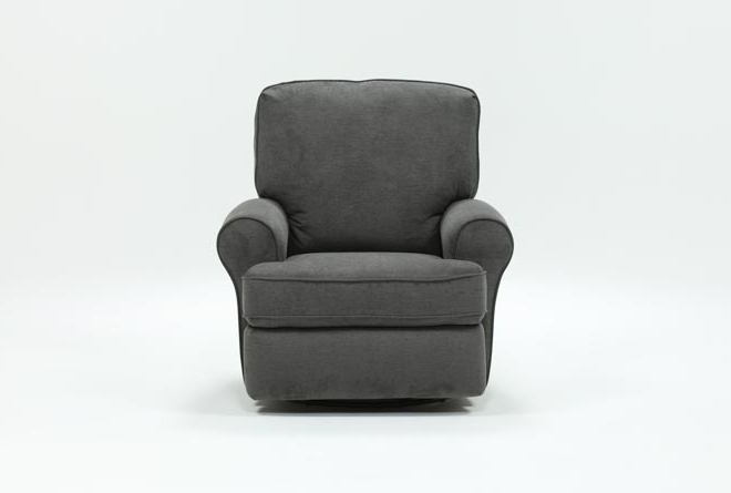 Featured Photo of Rogan Leather Cafe Latte Swivel Glider Recliners