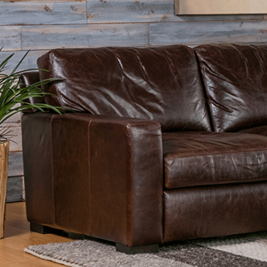 Living Spaces For Caressa Leather Dark Grey Sofa Chairs (View 12 of 20)