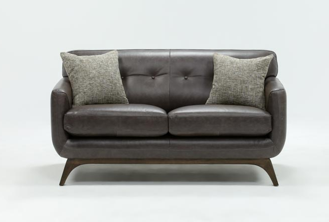 Living Spaces With Best And Newest Cosette Leather Sofa Chairs (Gallery 2 of 20)