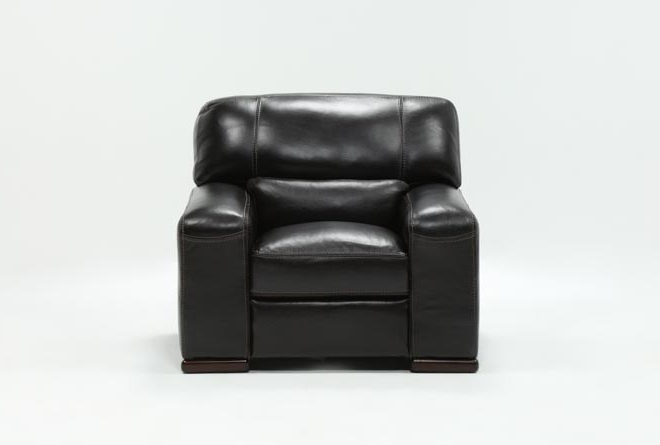 Living Spaces With Regard To Favorite Grandin Leather Sofa Chairs (Gallery 13 of 20)