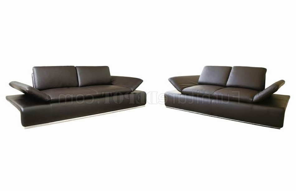 Loft Arm Sofa Chairs With Regard To Most Recent Modern Leather Sleeper Sofa & Loveseat Set W/adjustable Arms (View 11 of 20)