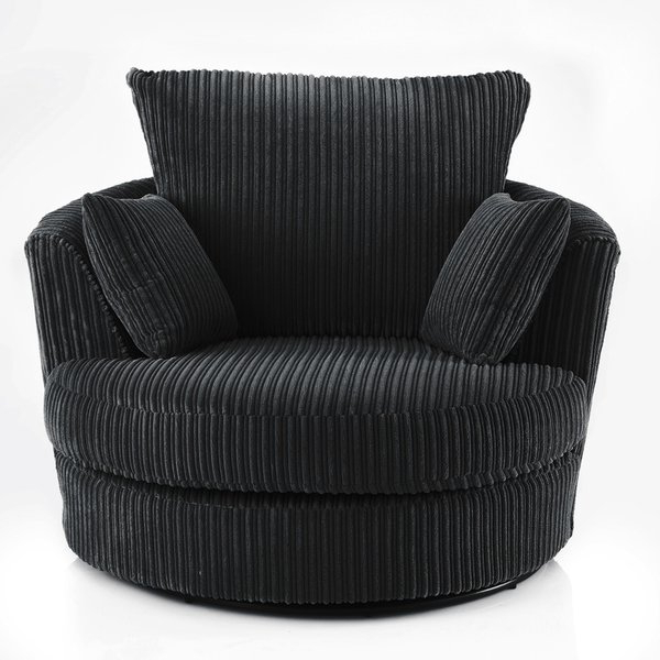 Loft Black Swivel Accent Chairs For Preferred Swivel Chairs You'll Love (View 7 of 20)