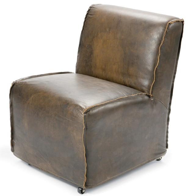 Loft Black Swivel Accent Chairs In Most Up To Date Kilgore Industrial Loft Vintage Leather Slipcover Rolling Chair (Gallery 15 of 20)