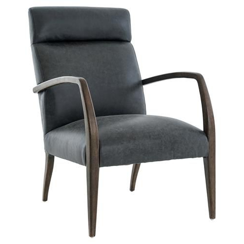 Loft Smokey Swivel Accent Chairs With Most Popular Paynter Industrial Loft Black Leather Burnt Oak Arm Chair In  (View 7 of 20)