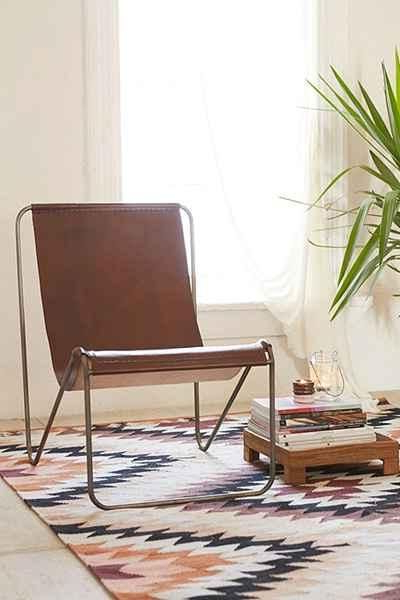 Maddox Brown Leather Sling Chair Urban Outfitters $329 Sold Out Pertaining To Recent Maddox Oversized Sofa Chairs (View 9 of 20)