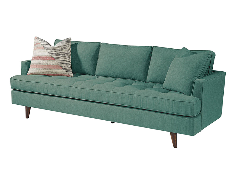 Magnolia Home Dapper Fog Sofa Chairs Within Recent Mid Century Modern Turquoise Sofamagnolia Home (View 11 of 20)