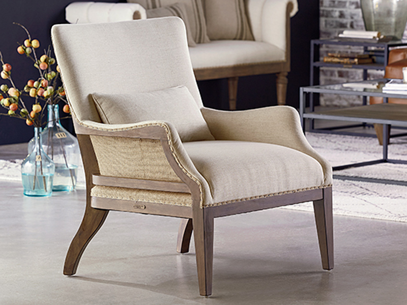 Magnolia Home Ravel Linen Sofa Chairs In Preferred Boho Molded Shell Side Chairmagnolia Home (View 6 of 20)