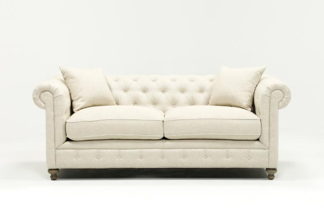 Mansfield 86 Inch Beige Linen Sofa (View 8 of 20)